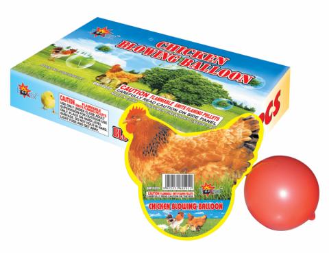 Chicken-Blowing-Balloon
